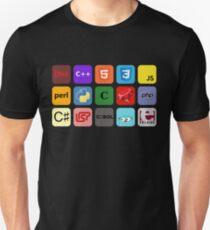programming languages color mosaic Unisex T-Shirt