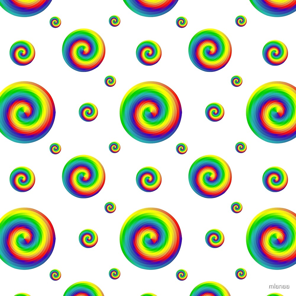 Pattern Spectrum color wheel on white background. by mlanaa