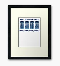 Doctor Who - Who Let The Docs Out? Framed Print