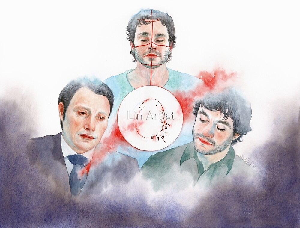 Buffet Froid / Hannibal S1E10 / Hannigram Watercolor by Lin Artist