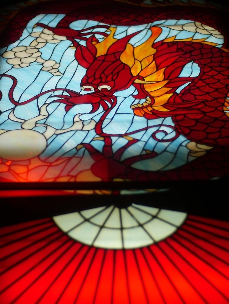 Dragon Stained Glass by ChrisBergeron