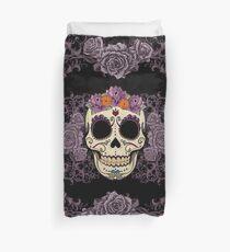 Vintage Skull and Roses Duvet Cover