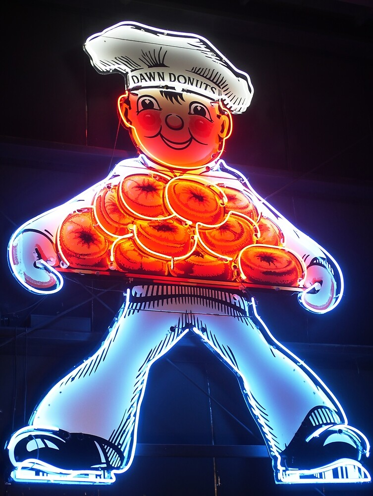 Neon Donut Sign by ChrisBergeron