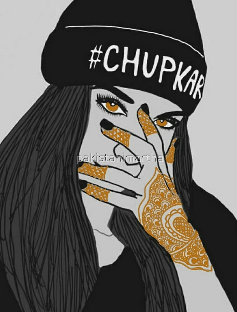 Chup Kar Beanie Girl- Black and White Edition  by pakistanimartha