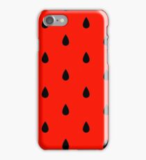 Vector watermelon background with black seeds. iPhone Case/Skin