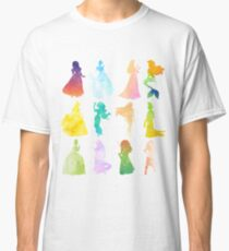 Princesses Watercolor Silhouette Classic T-Shirt