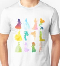 Princesses Watercolor Silhouette Unisex T-Shirt