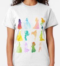 Prinzessinnen Aquarell Silhouette Classic T-Shirt