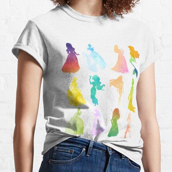 Princesses Aquarelle Silhouette T-shirt classique
