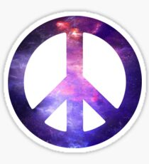 Peace Sign Galaxy Sticker