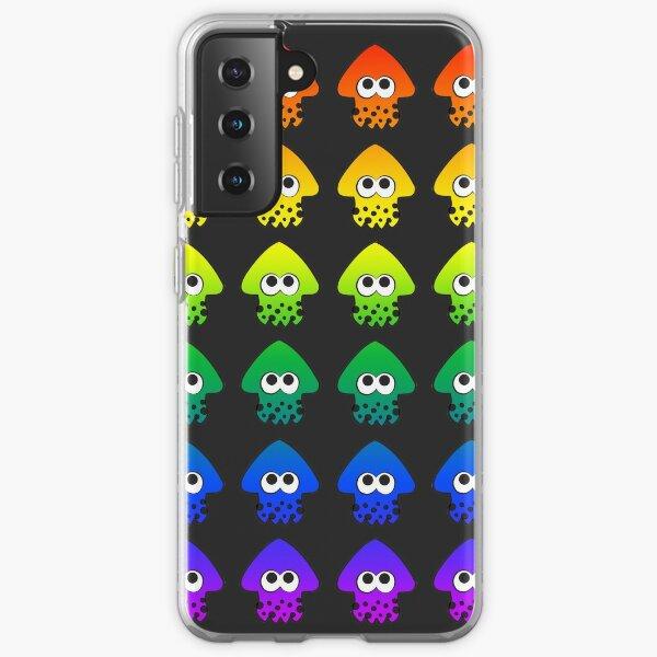 Rainbow Splatoon Squids Samsung Galaxy Soft Case