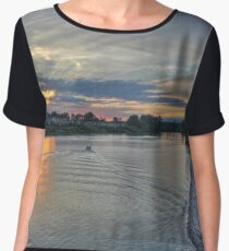 Fraser River Fishing Women's Chiffon Top