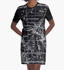Atlas Coelestis John Flamsteed 1729 14 Astronomy Constellations Inverted Graphic T-Shirt Dress