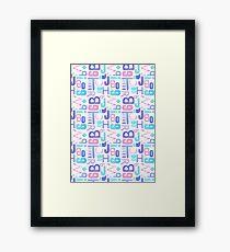 Letterpress Pastel Pattern Framed Print