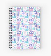 Letterpress Pastel Pattern Spiral Notebook