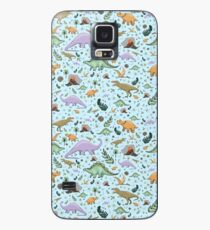 Dinosaurs in Blue Case/Skin for Samsung Galaxy