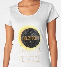 Total Solar Eclipse Wyoming WY Tshirt 21 August 2017 Women's Premium T-Shirt