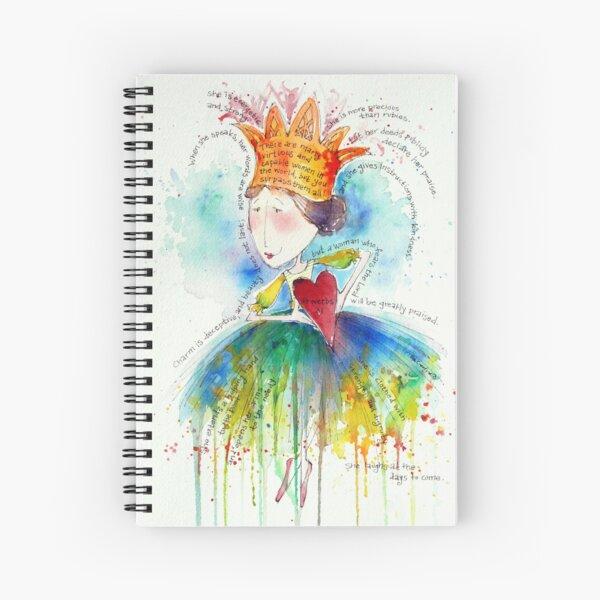 Proverbs 31 Woman Spiral Notebook