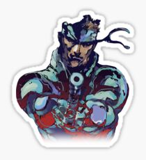 Metal Gear Solid Snake Classic RARE Design 100% Redrawn In Adobe Ilustrator Vector Format.  Sticker