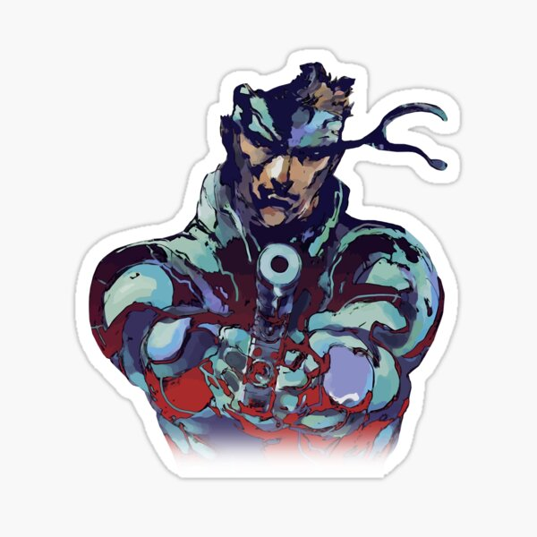 Metal Gear Solid Snake Classic RARE Design 100% Redrawn In Adobe Ilustrator Vector Format.  Sticker