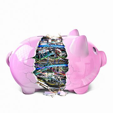 Piggy bank by DerekBacon