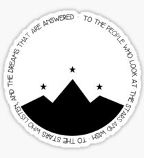 TO THE PEOPLE WHO LOOK AT THE STARS AND WISH Sticker