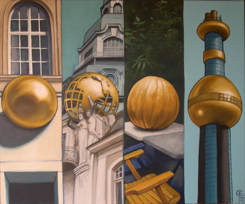 Vienna's golden spheres by Franco Coluzzi