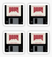 Classic Doom Game Installation Disk Sticker
