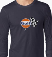 Gulf Racing checkered Long Sleeve T-Shirt