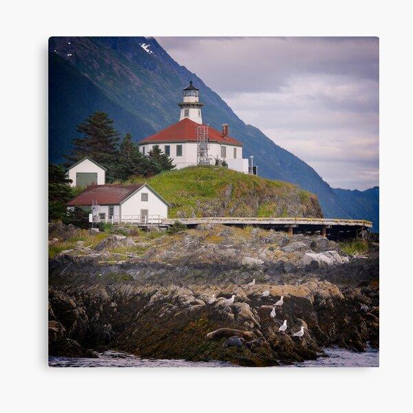 Eldred rock Lighthouse Canvas Print