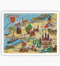 Normandie map Sticker