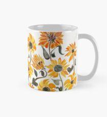 Sunflower Watercolor – Yellow & Black Palette Mug