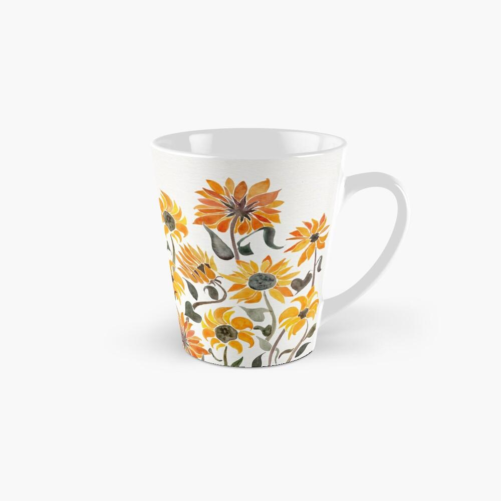 Sunflower Watercolor – Yellow & Black Palette Mugs
