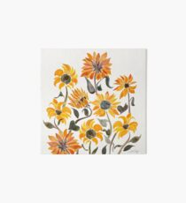 Sunflower Watercolor – Yellow & Black Palette Art Board