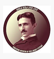 Nikola Tesla - Pioneering Inventor of Free Energy Systems Photographic Print