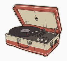 Vintage Record Player | Baseball  Sleeve