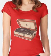 Vintage Record Player Women's Fitted Scoop T-Shirt