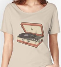 Vintage Record Player Women's Relaxed Fit T-Shirt