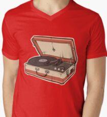 Vintage Record Player Men's V-Neck T-Shirt