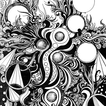 Instinctive, an organic ink drawing by djsmith70