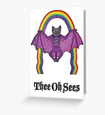 Thee Oh Sees 2 Greeting Card