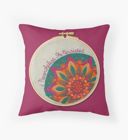 She Persisted Throw Pillow
