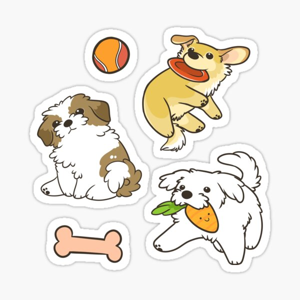 Fluffy Dogs Sticker
