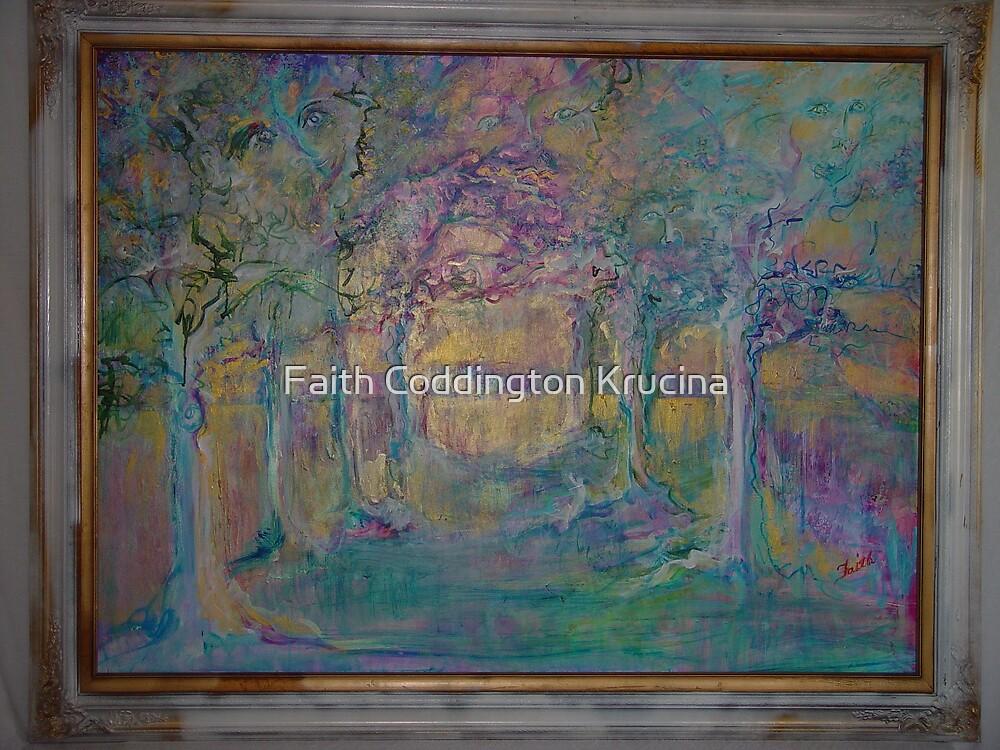 """Enchanted Forest 48"""" x 36"""" by Faith Coddington Krucina"""
