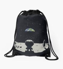 Lonely Space Drawstring Bag