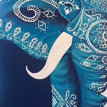 Teal Elephant by noellelucia