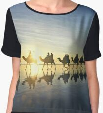 cable beach camel  Women's Chiffon Top