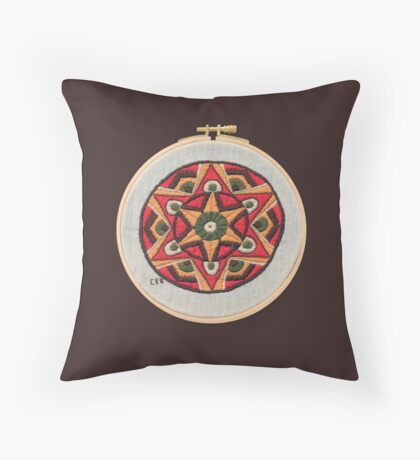 Gold Star Throw Pillow