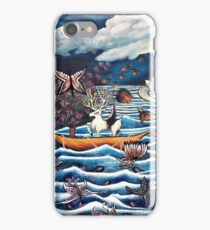Ocean Moonlight Boat Journey  iPhone Case/Skin