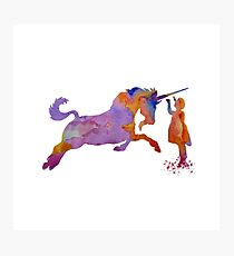 Unicorn Art Photographic Print